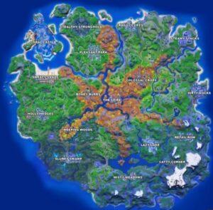 mapa Temporada 6 Fortnite - Instintos